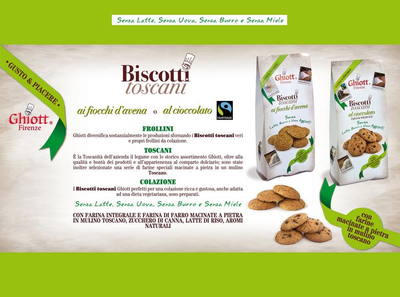 Biscotti toscani ai fiocchi d'avena o al cioccolato