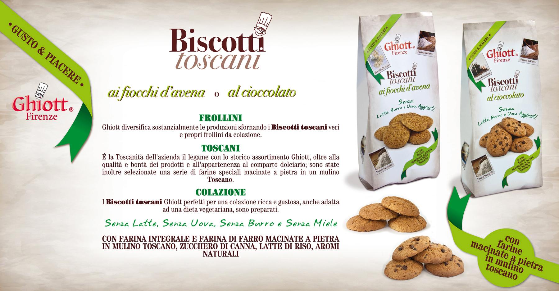 Ghiott Presenta i nuovi frollini da colazione Biscotti Toscani Gusto & Piacere
