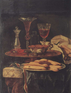 Still life with crystals and a dish of biscuits - Christian Berentz