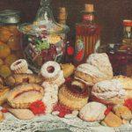 Luigi Monteverde - Natura morta con dolci e biscotti