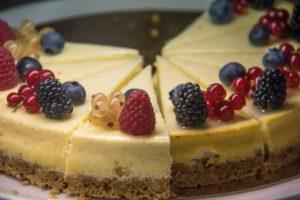 cheesecake con frutta