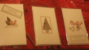 Auguri di Natale con una cartolina